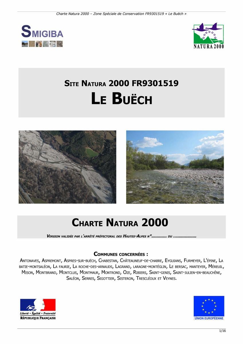 Charte Natura 2000 du site Le Buëch